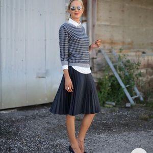 🆕 ‼️ J Crew Navy Pleated Midi Skirt Style AJ983